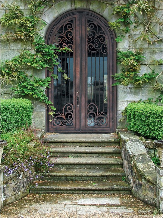 French-Doors-mediterranean-entry