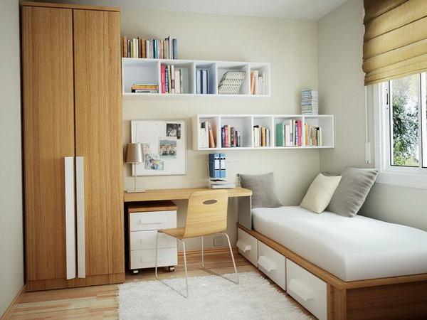 Functional-Apartment-Bedroom-Decoration-with-Minimalist-Wood-Finish-Furniture-Stylish-bedroom-Room-Concept-for-Apartment-Design-Ideas