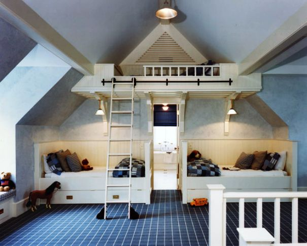 Girls-Twin-Bunk-Beds-Comforter-Sets-In-Farmhouse-Kids-Bedroom-Design-Ideas