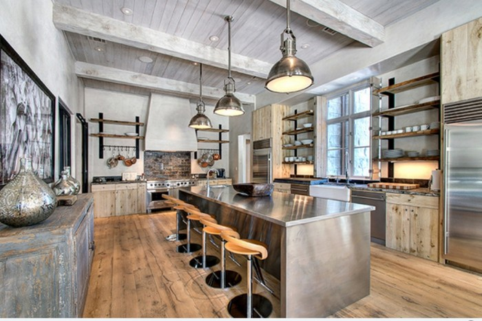 Industrial-Kitchen-with-valuted-Ceiling