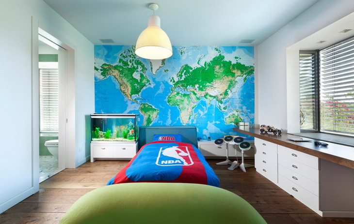 Large-World-Murals-in-Kids-Bedroom