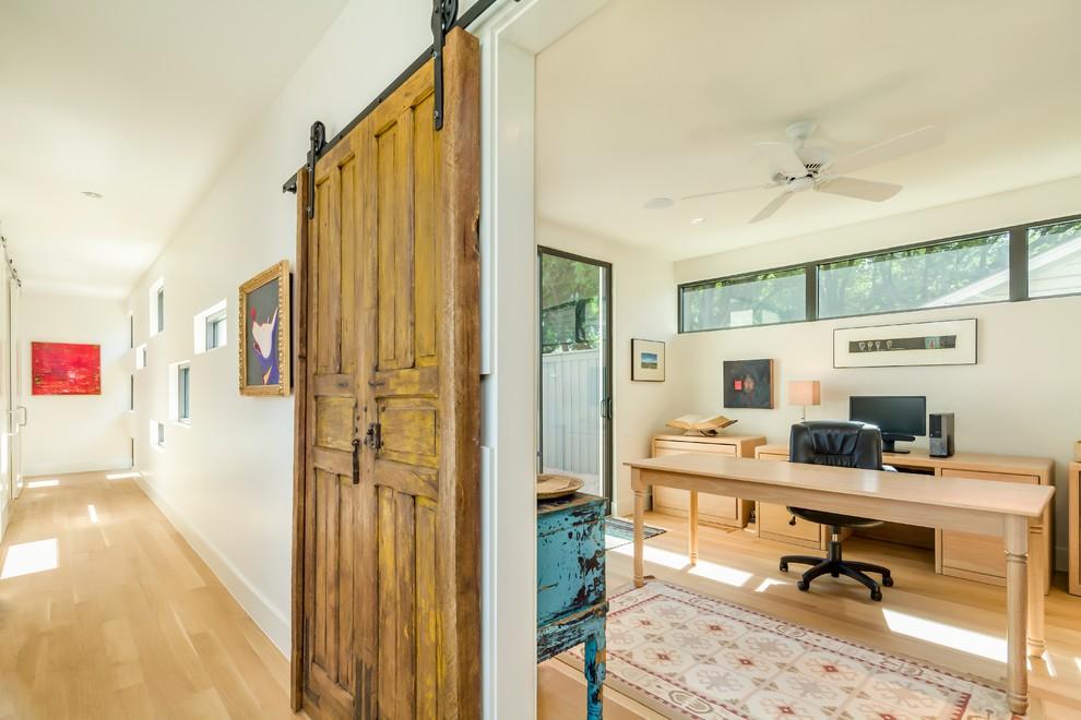 Lovely-Sliding-Barn-Door-house-designs-Farmhouse-Home-Office-Dallas