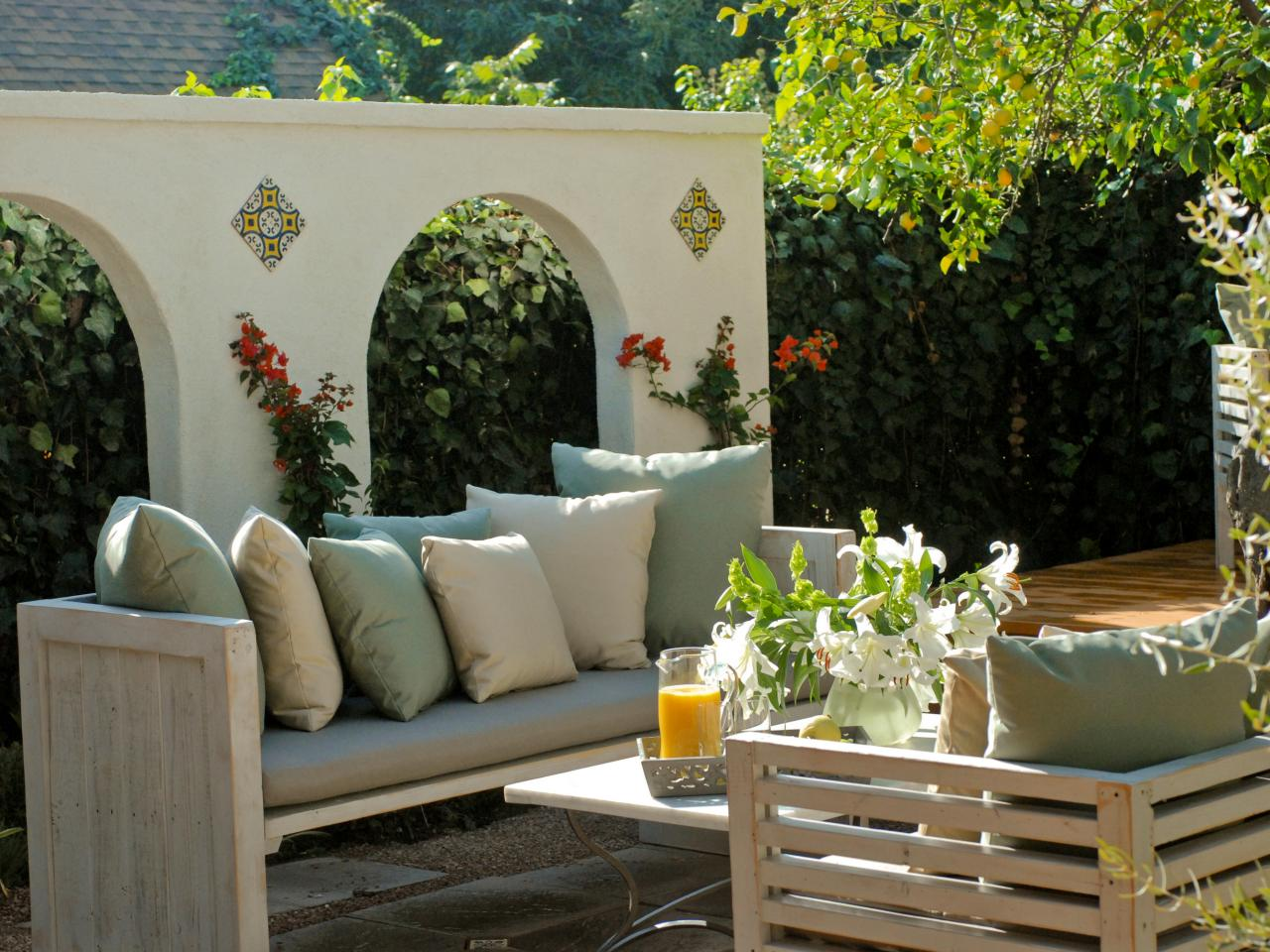Modern Mediterranean Patio Outdoor-