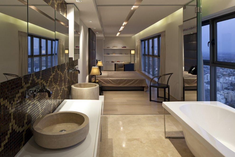 Neutral-bedroom-bathroom-twin-basin