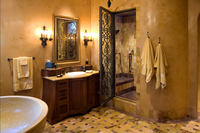 Old-world-charm-at-its-best-in-this-Mediterranean-bathroom