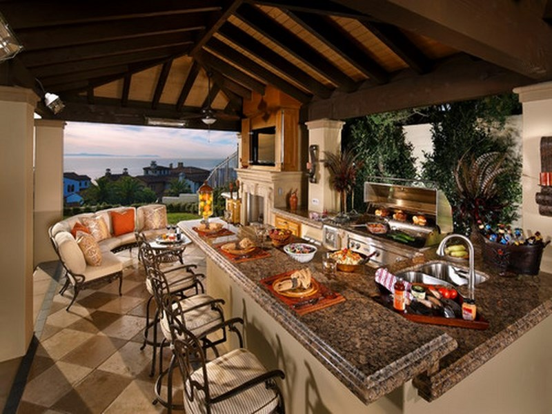 Outdoor Mediterranean Kitchen Design