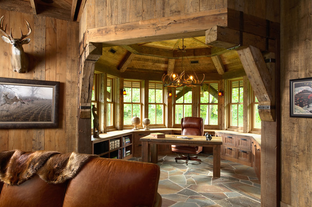 Rustic Home Office__ Design