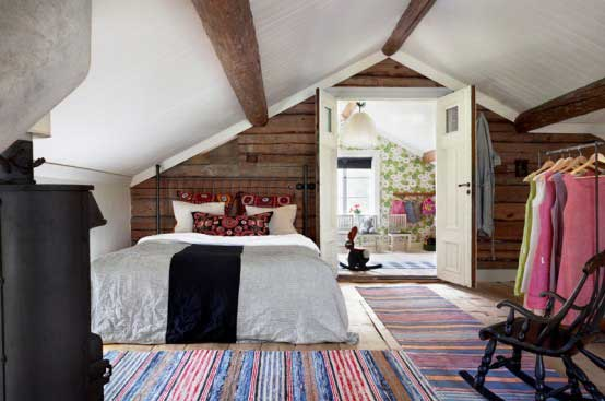 Scandinavian-House-with-Rustic-and-Indutrial-Bedroom-Design
