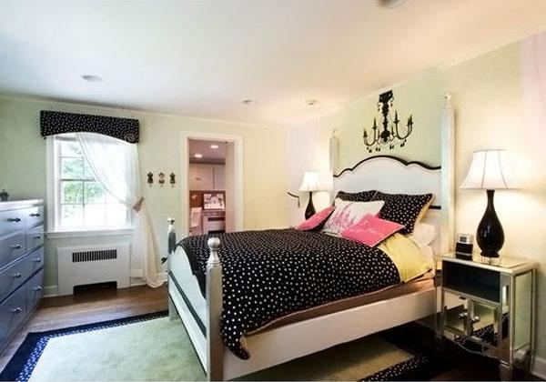 The-Black-Blankets-Of-Stylish-Teenage-Girls-Bedroom-Ideas