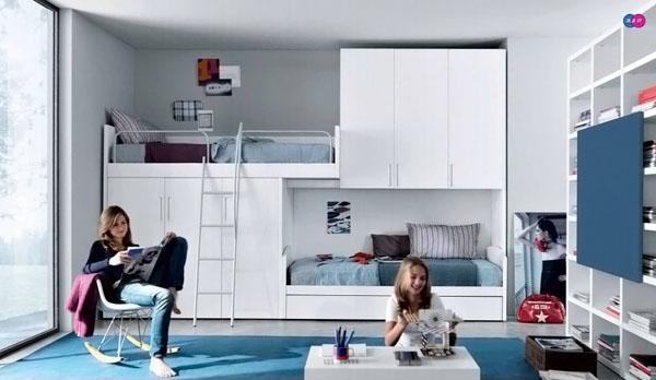 The-Blue-Carpet-Of-Stylish-Teenage-Girls-Bedroom-Ideas