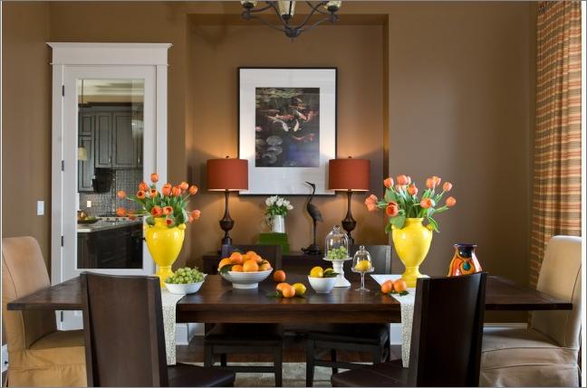Transitional dining room designs_