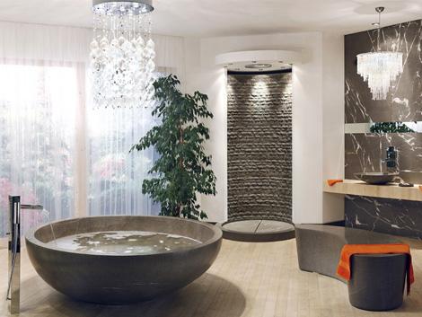 amazing bath tub with a unique style of bathroom