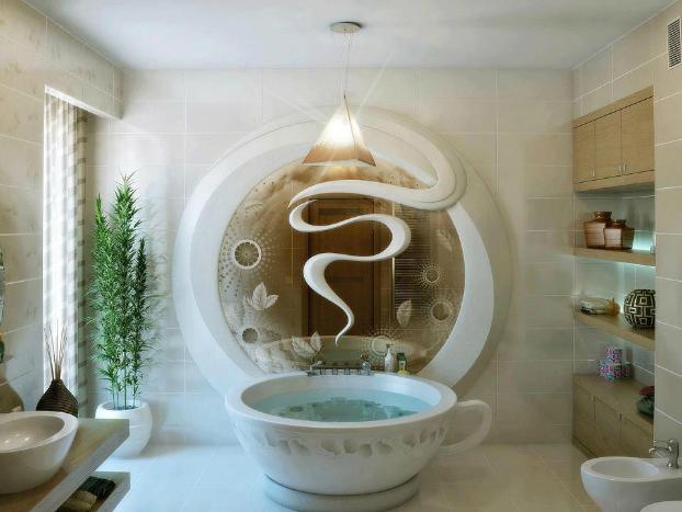 antique bathroom-