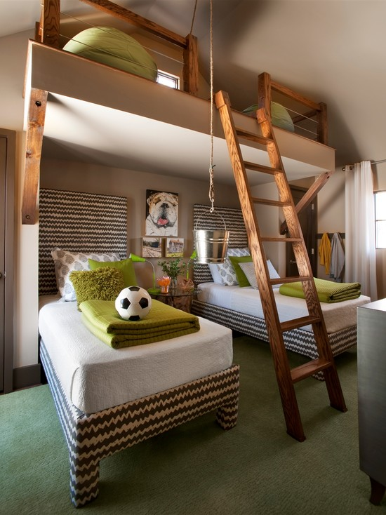 big-bunk-beds-mid centuary-bedroom-ideas