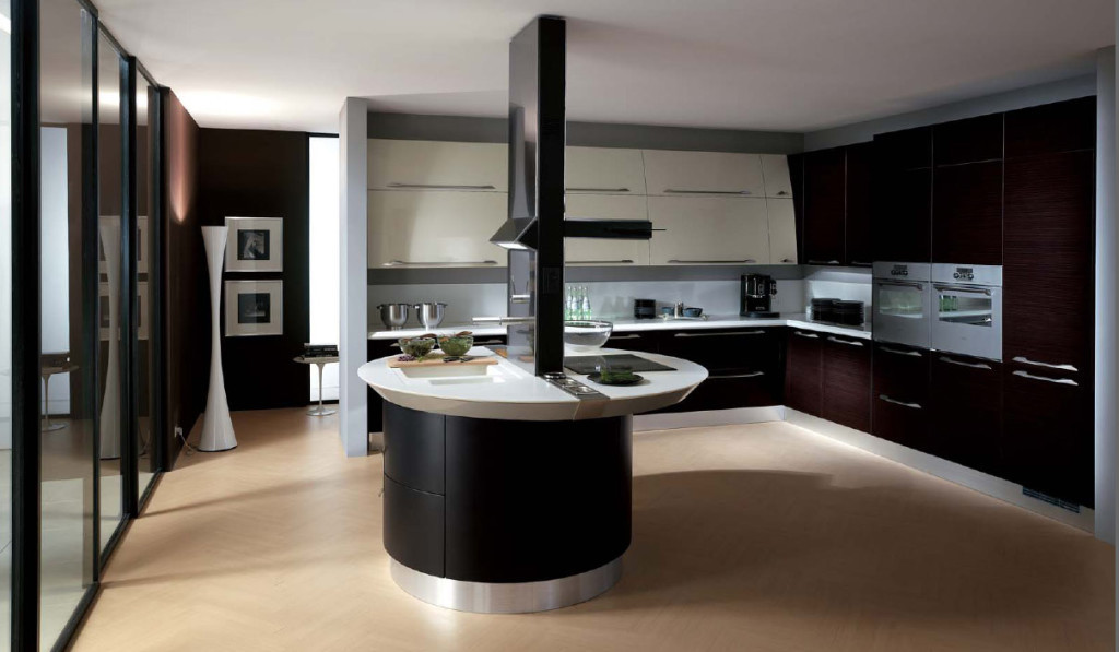 brown-ceramic-floor-with-black-and-white-italian-kitchen-design-