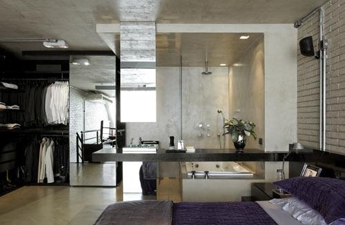 cozy open bath