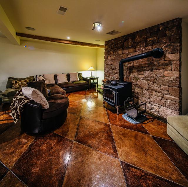 craftsman-basement-dark-design