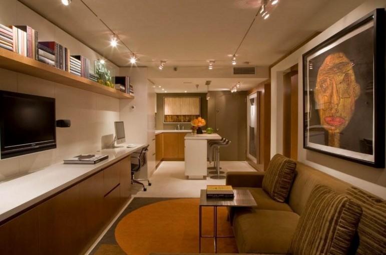 craftsman-home-interior-color-schemes-appealing-basement-living-room