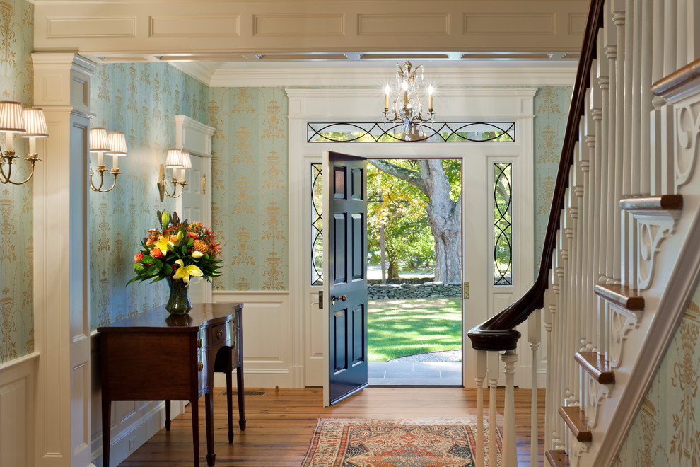 entry-door-trim-Entry-Traditional-with-area-rug-carpet-runner