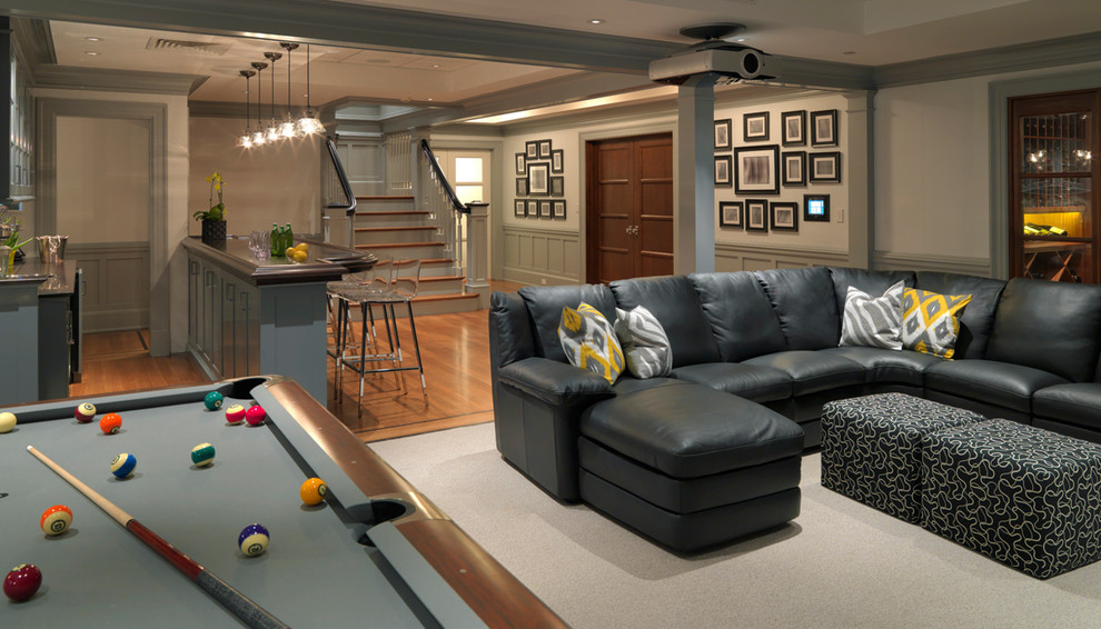 great Traditional basement-design-idea