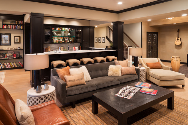 incredible transitional basement ideass