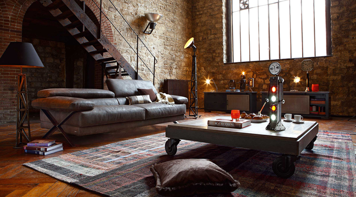 industrial-living-room-design interior industrial