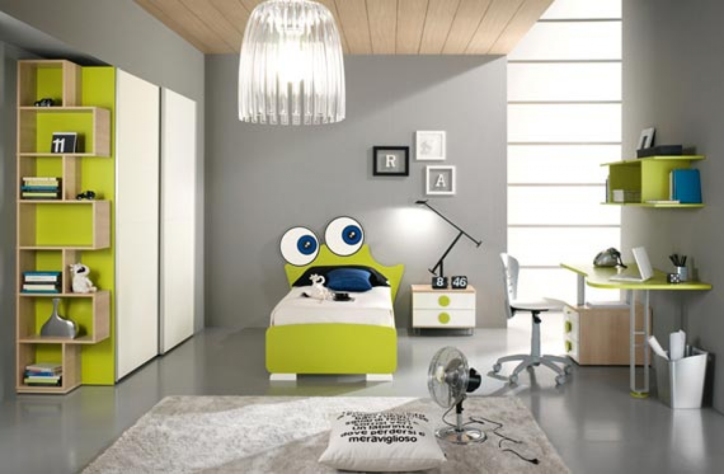 kids-bedroom-ideas-of-green-home-for-skylight-design
