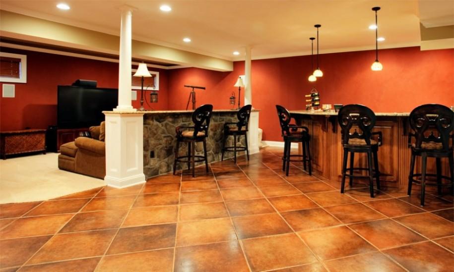 mediterranean-classic-basement-remodel-interior-design