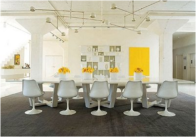 mid-century modern dining room-