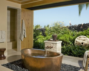 25 Beach Style Open Bathroom Design Ideas