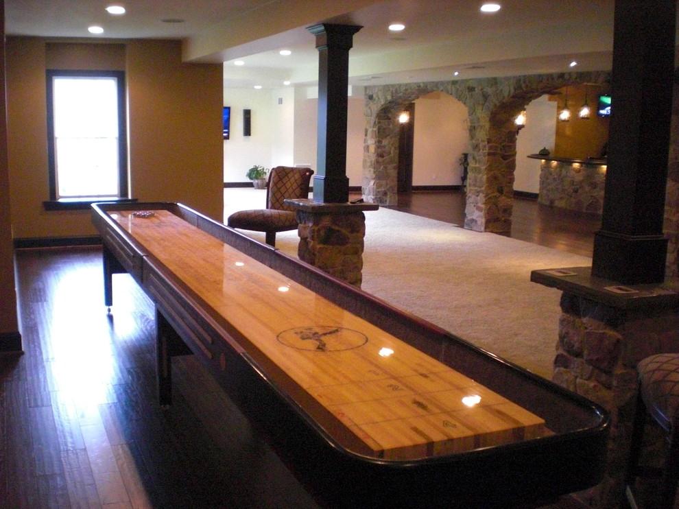 table-shuffleboard-Basement-Traditional-with-Ardmore-basement-design-basement-finishing-Basement-ideas-Basement-pictures-basement-remodel-basement