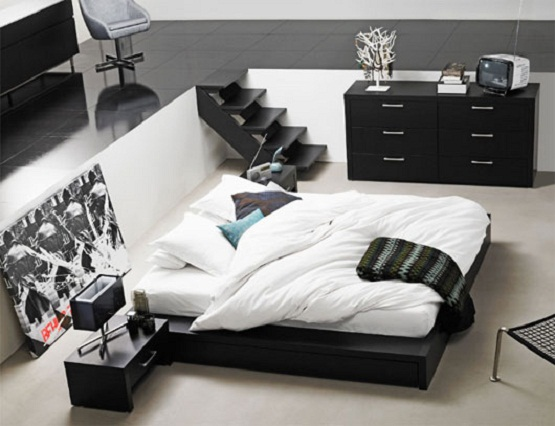 white-and-black-master-bedroom-