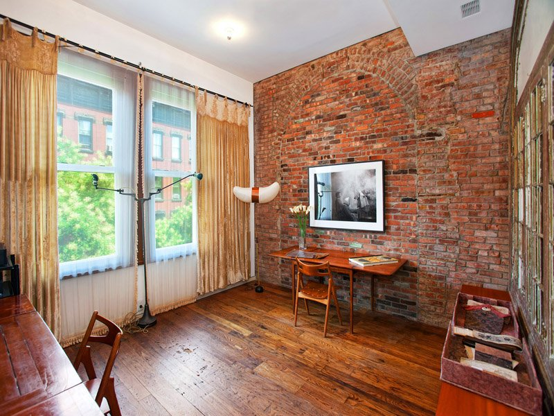 Brick Wall Wooden Floor Classic Wooden House With Brick Interior Design