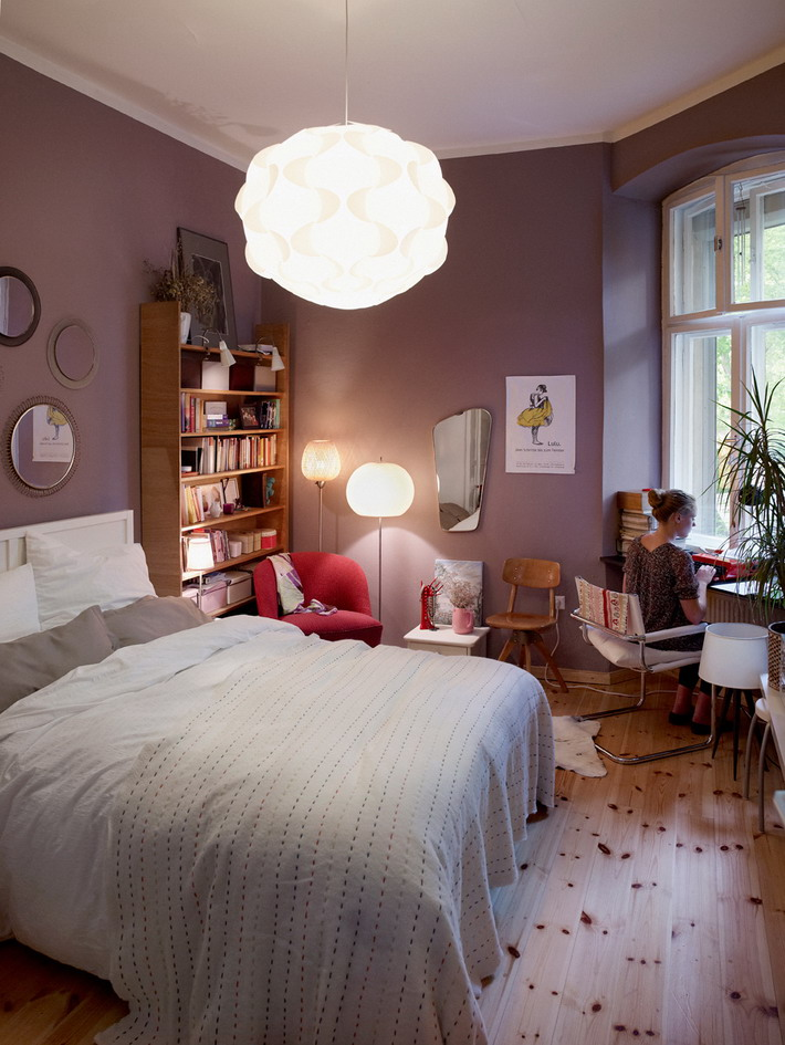 Comfortable-Lighting-in-Small-Modern-Bedrooms