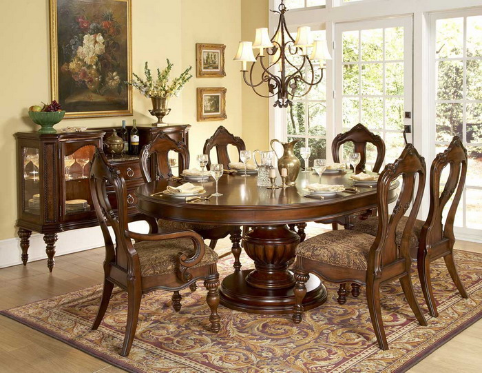 Elegant-Classic-Style-Dining-Room-Table-Centerpiece-Ideas