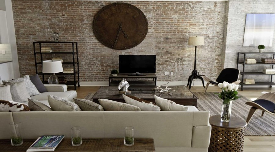 Spice-Warehouse-Living-Room-with-Brick-Wall-Ideas