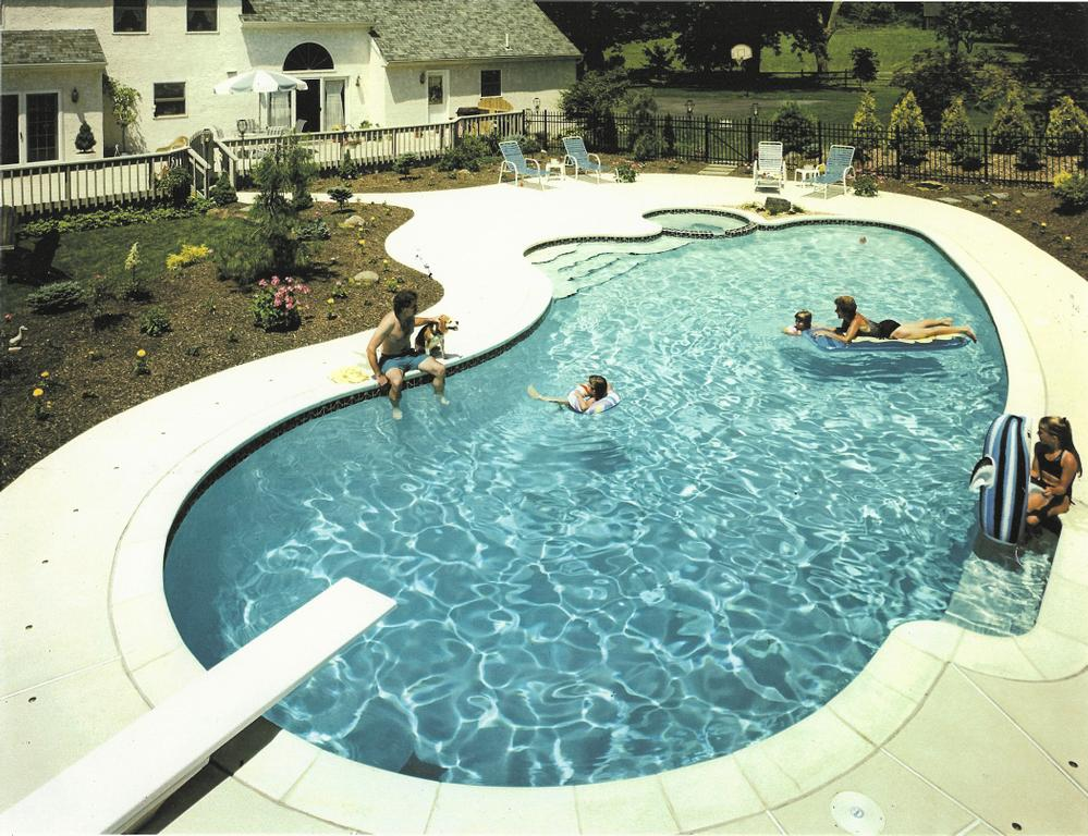 The pool with diving board in use_full