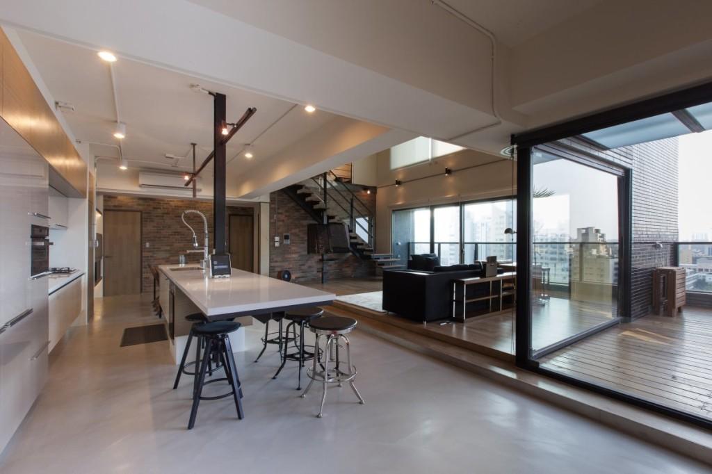 Unique-Modern-Penthouse-Design-Kitchen-