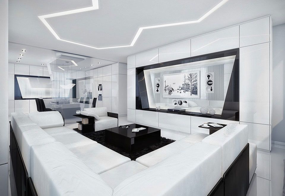 beautiful-design-white-and-black-room