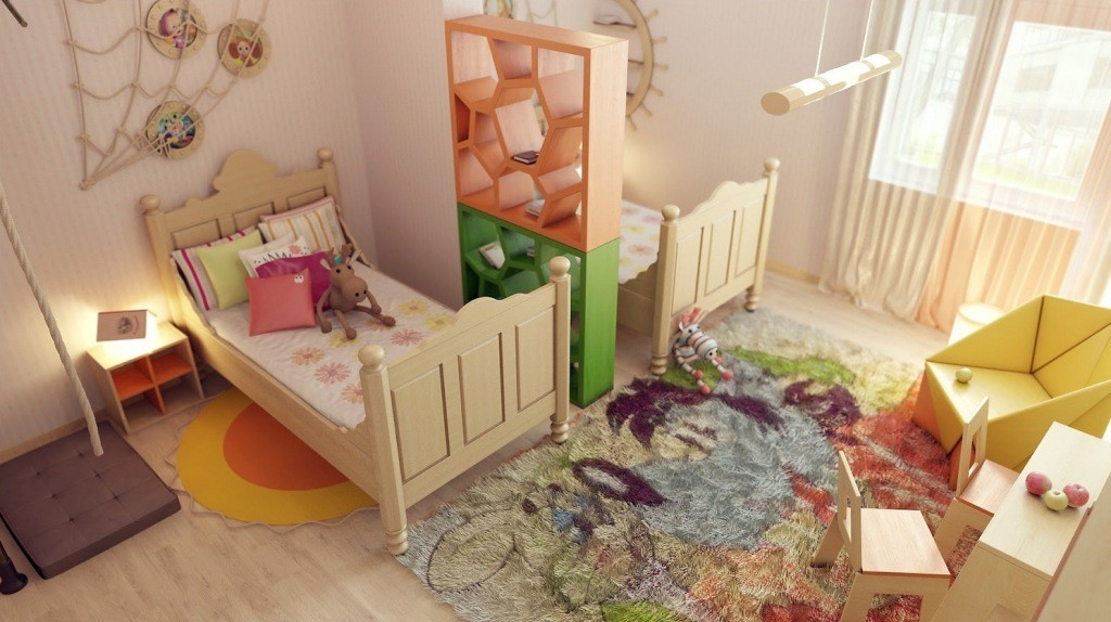 bedroom-stunning-kids-shared-modern-home