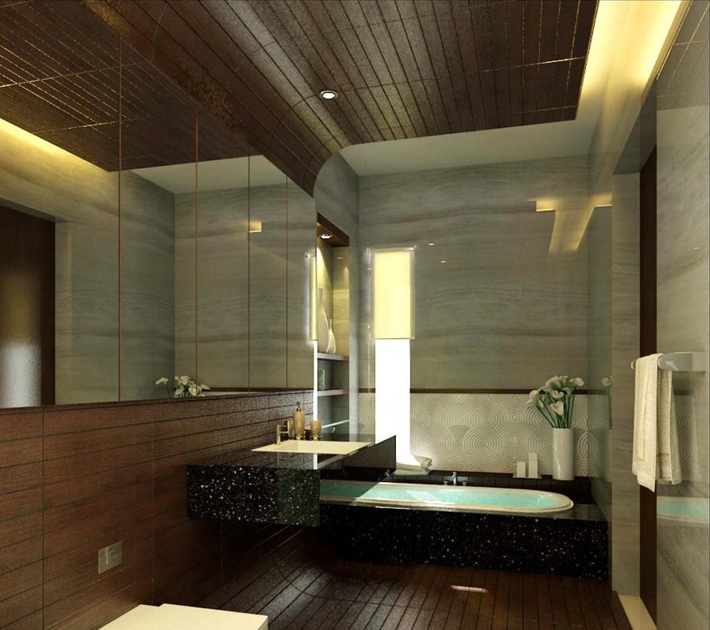 comfortable-wooden-bathroom-decoration
