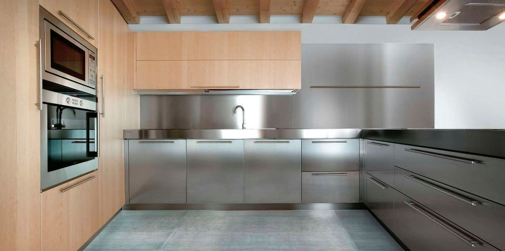 indoor-stainless kitchen
