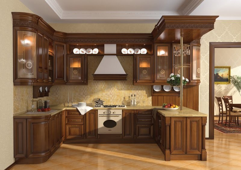 latest-wood-kitchen-design-with-drawers-design