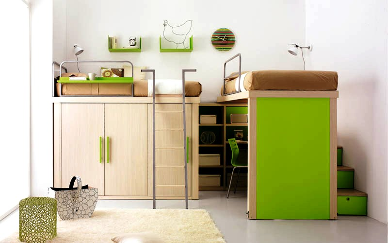 space-saving-beds-for-kids-green