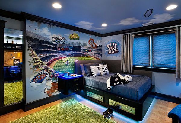 teenage-boys-room-idea-for-a-Yankee-fan
