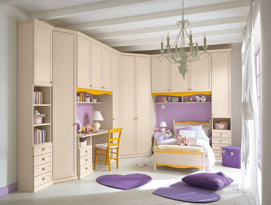 Cute-Luxury-Girl-Bedroom-Pretty-Chandelier-Large-Kids-