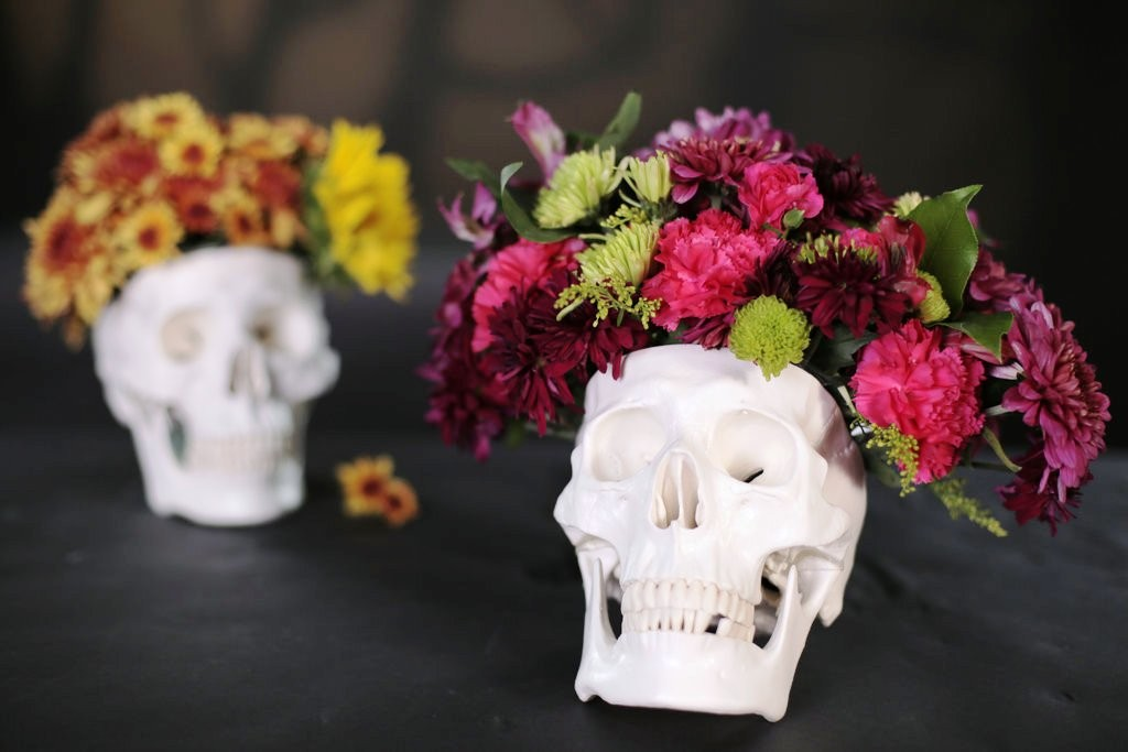 DIY-Skull-Floral-Arrangement