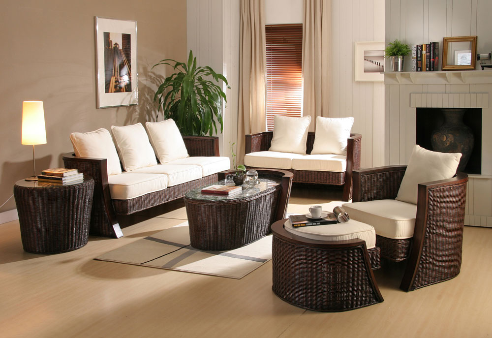 Decoration-Home-Rattan-Furniture-In-Living-Room-Decor