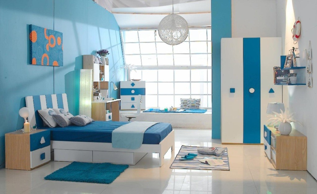 Gorgeous-Kid-Bedroom-using-Blue-Interior-Design-Ideas-