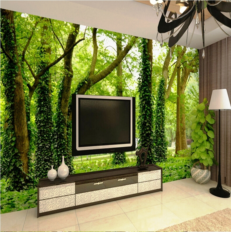 Hot-sale-Super-3D-stereo-forest-trees-living-room-sofa